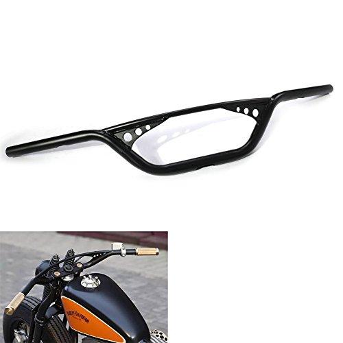 Alpha Rider 1 25mm Scrambler Handlebar Drilled Holes For Harley Sportser XL Iron 883 1200 Black
