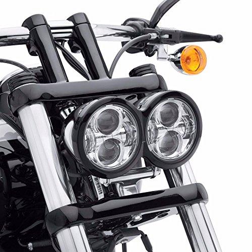 Chrome Dual Daymaker LED Headlights for Harley Dyna Fat Bob