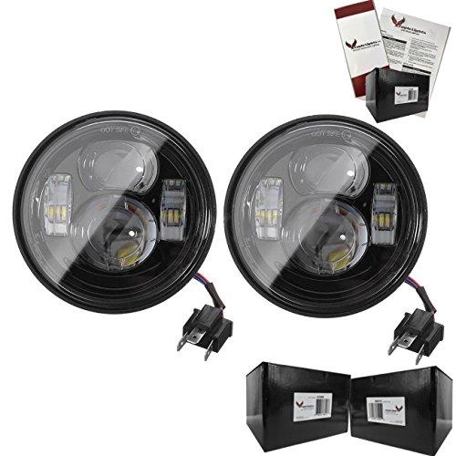Eagle Lights Fat Bob and Slim Bob Dual LED Headlight Kit Black