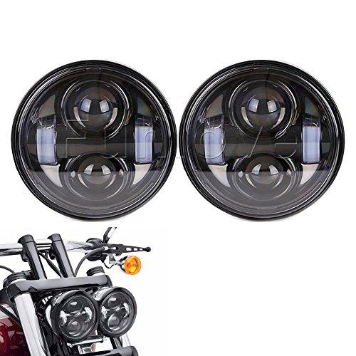 Funlove 465 Dual LED Headlights for Harley Dyna Fat Bob