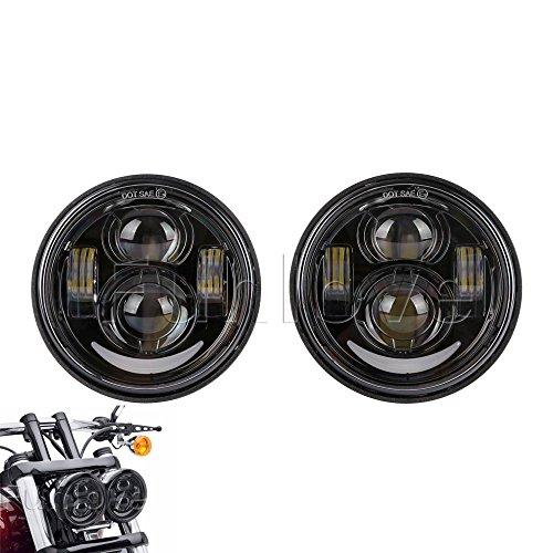 Funlove 5 Inch Daymaker Projector LED Headlights DRL for Harley-Davidson Dyna Fat Bob