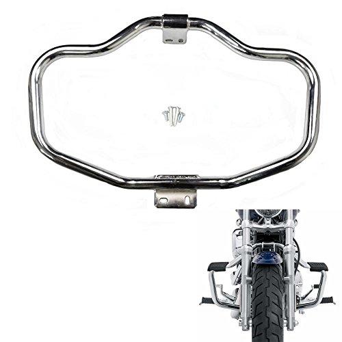 Alpha Rider Chrome Footrest Bar Motor Protection Mustache Engine Guard Black For Harley Davidson Roadster XL 1200CX 2016-2017  Seventy Two XL1200V 2012-2016  Sportster 1200 Custom XL 1200C 04-17