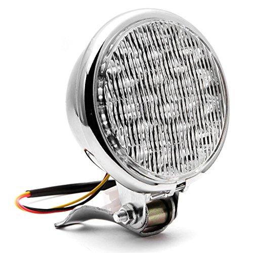 Krator 5 Chrome LED Headlight w Light Mounting Bracket for Harley Davidson XL Sportster 1200 Custom