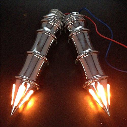 Motorbike Hand Grips 1 Turn Signals Fit For Harley Xl Sportster 1200 Custom Chromed
