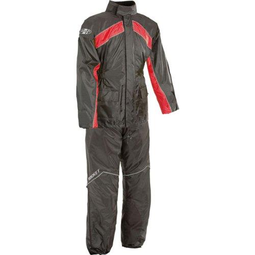 Joe Rocket RS-2 Mens 2-Piece Street Racing Motorcycle Race Suit - BlackRed  Large