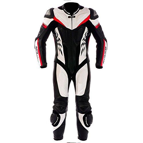 Spyke 4Race Rac Leather Motorcycle Suits for Men 52 ITA  42 US Men WhiteBlackRed