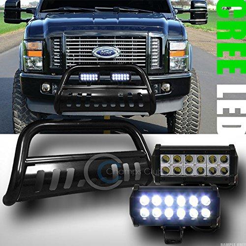 BLK BULL BAR BUMPER GRILL GUARD36W CREE LED FOG LIGHTS LAMP 2008-2010 F250F350