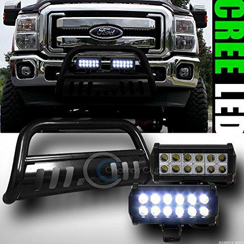 BLK BULL BAR BUMPER GRILL GUARD36W CREE LED FOG LIGHTS LAMP 2011-2014 F250F350