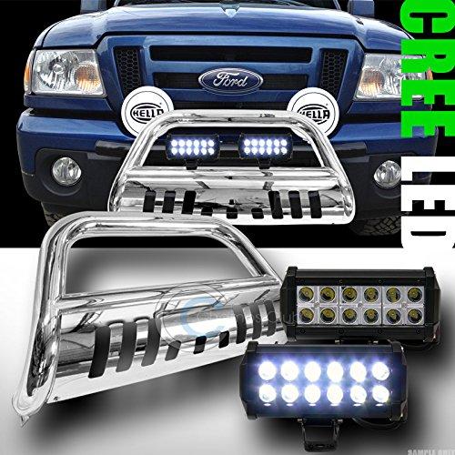 CHROME BULL BAR BUMPER GRILL GUARD V236W CREE LED FOG LIGHTS 1998-2011 RANGER