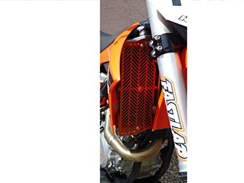 7602 Racing radiator braces with front guard KTM  Husqvarna 2008-2016 orange