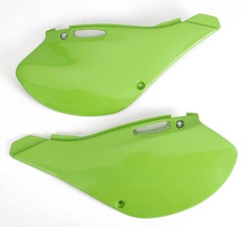 UFO Plastics Side Panels Green for Kawasaki KX 125 250 99-02