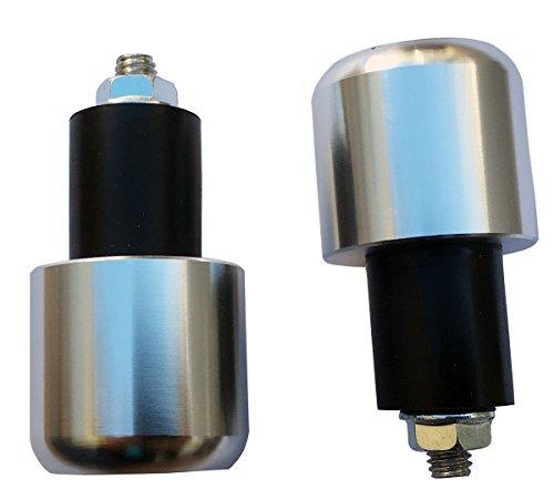 Silver 78 22mm Handle Bar End Weights Plugs Grips Cap Sliders for 2004 Suzuki Intruder 1400