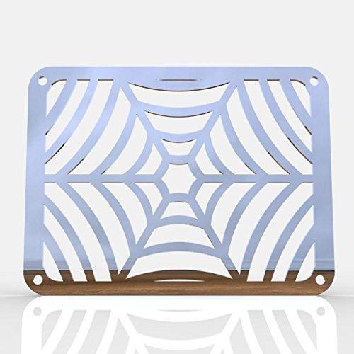 Spiderweb Polished Stainless Oil Cooler Grill fits 1987-2004 Suzuki Intruder 1400 VS1400 - Ferreus Industries - GRL-126-03
