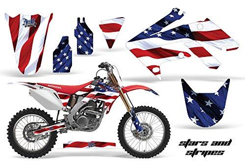 Honda CRF250R 2004-2009 MX Dirt Bike Graphic Kit Sticker Decals CRF 250 R STARS STRIPES