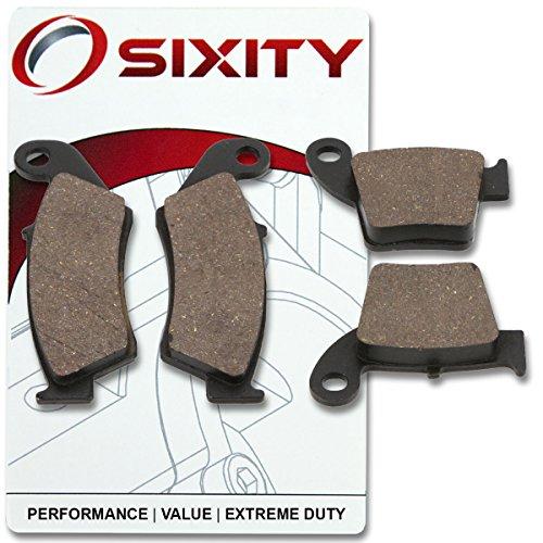 Sixity Front  Rear Ceramic Brake Pads 2004-2015 Honda CRF250R Set Full Kit Complete