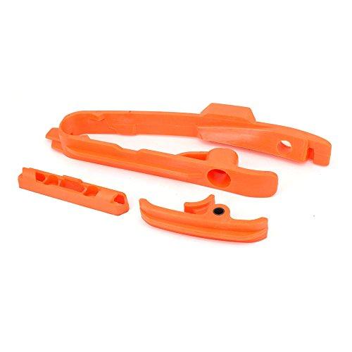 JFG RACING Motorcycle Plastics Chain Guide Swing arm Slider Brake Hose Clamp For KTM SX SXF 125 250 350 450 525 2011-2015