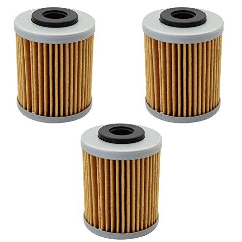 Cyleto Oil Filter for KTM 660 RALLY 2001-2005 2004-2007  KTM 660 SMC 2003-2005 Pack of 3