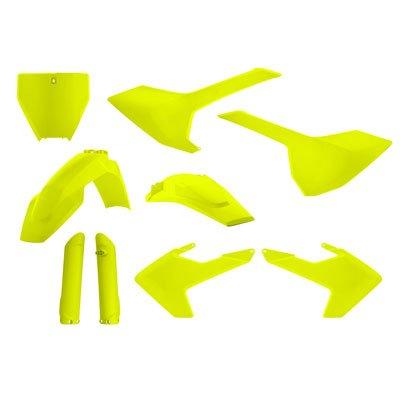 Acerbis Full Plastic Kit Flo Yellow - Fits Husqvarna FC 250 2016-2018