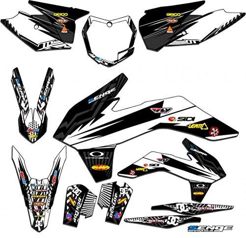 2013-2014 SX Mayhem White Complete Senge Graphics Kit Compatible with KTM