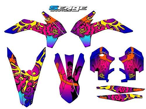 2013-2014 SX Zany Pink Base Senge Graphics kit Compatible with KTM