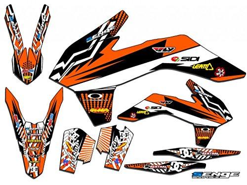 2013-2014 SXF Mayhem Orange Base Senge Graphics kit Compatible with KTM