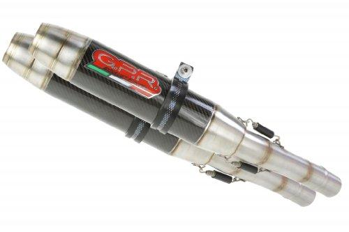 Ducati 748 916 996 GPR Exhaust Systems Deeptone Carbon Look Dual Slipon Mufflers Unrestricted Power