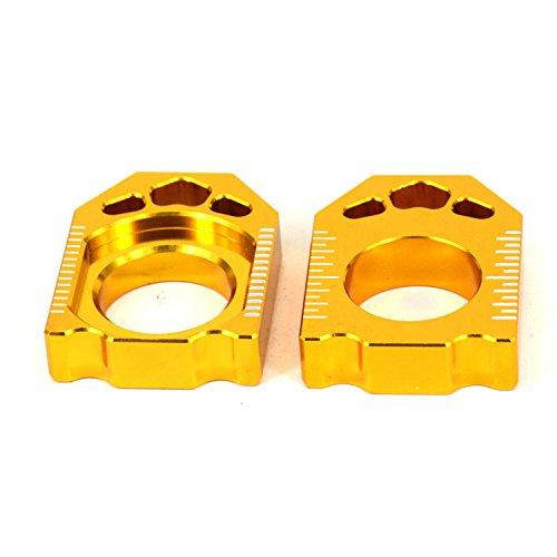 JFG RACING CNC Rear Axle Blocks Chain Adjuster For Suzuki RMZ250 04-16 RMZ450 05-16 RMX450Z 10-15