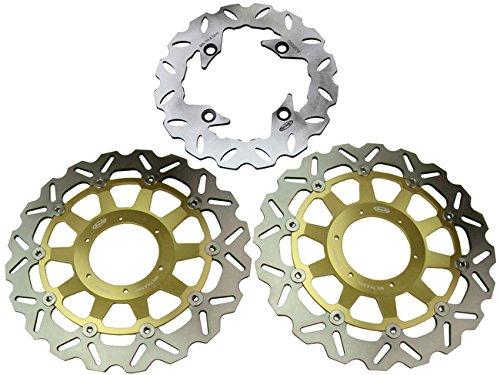 GZYF Front Rear Brake Disc Rotors For Honda 2000 2001 CBR 929RR 2002 2003 CBR 954RR Gold