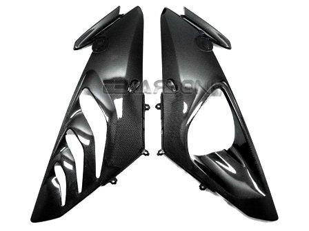 2009 - 2014 BMW S1000RR  HP4 Carbon Fiber Mid Side Fairings - Plain