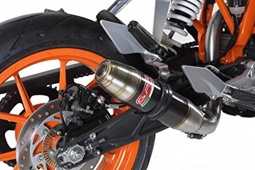 KTM Duke 390 2013-2014 GPR Exhaust Systems Catalyzed Deeptone Carbo Look Slipon Muffler Side Mount