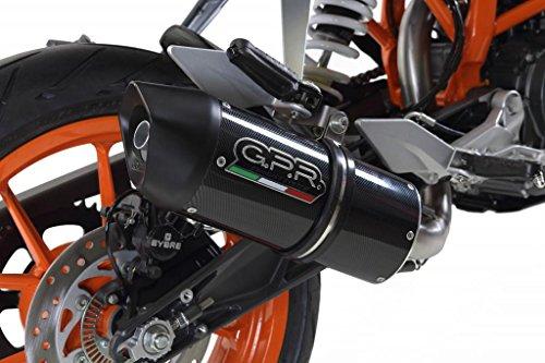 KTM Duke 390 2013-2014 GPR Exhaust Systems Catalyzed Furore Carbo Look Slipon Muffler Side Mount