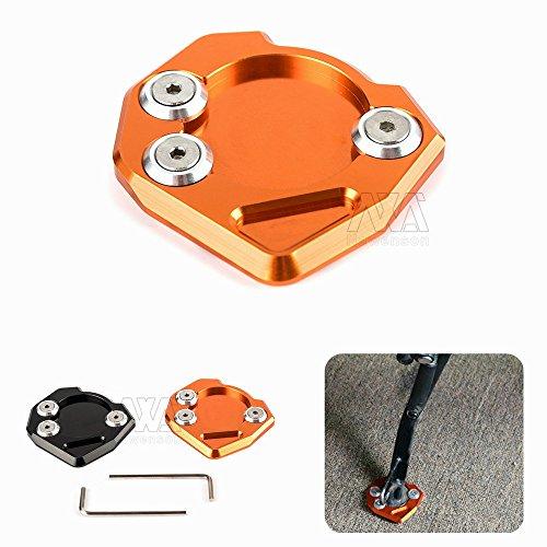 Motorcycle CNC Side Stand Plate Kickstand Extension Pad Enlarger For KTM DUKE 390 13-15 DUKE 125200 RC 390 2014-2015 RC 125200 Orange