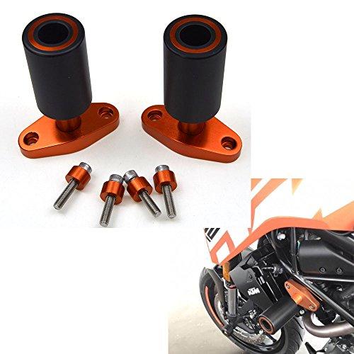 New Orange CNC Frame Sliders Protectors Guard For KTM DUKE 125 200 390 2012 13 14 15