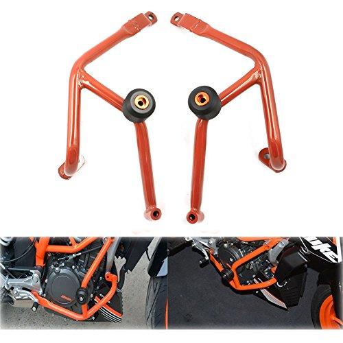 Orange Crash Bars Frame Protector Protection Guard For KTM Duke 390 2013 - 2015