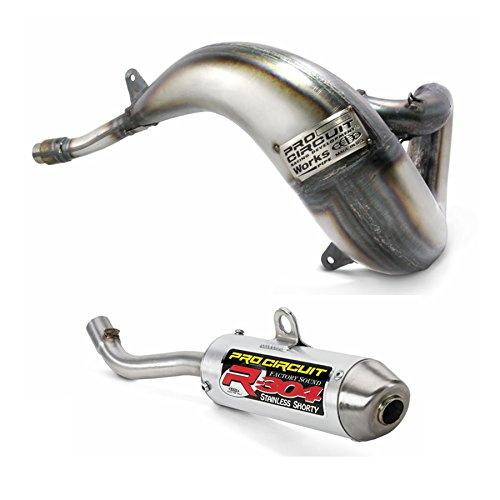 Pro Circuit Exhaust System - Works Pipe R-304 Shorty Silencer - Yamaha YZ250 - 2003-2017 _PY05250SY03250-RE