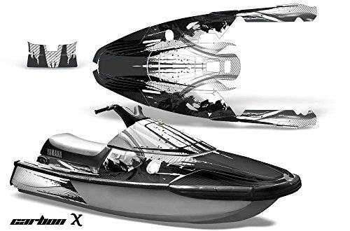 1991-1996 Yamaha Wave Runner III AMRRACING Jet Ski Graphics Decal Kit - Carbon X - Black