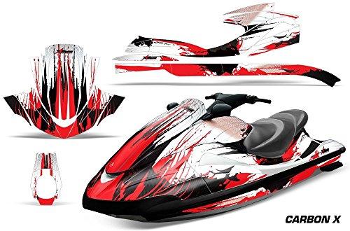 2002-2005 Yamaha Wave Runner AMRRACING Jet Ski Graphics Decal Kit - Carbon X - Red