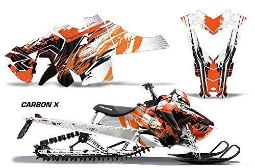 2015 Polaris Axys RMK SKS AMRRACING Sled Graphics Decal Kit - Carbon X - Orange