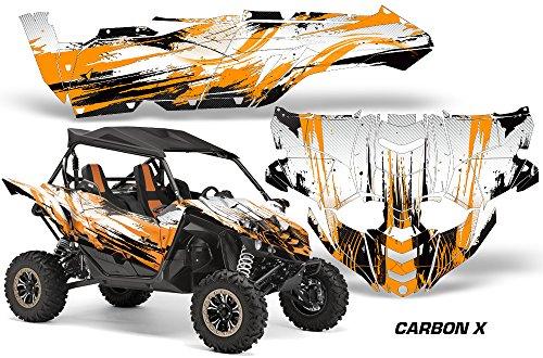 2015 Yamaha YXZ 1000R AMRRACING UTV Graphics Decal Kit - Carbon X - Orange