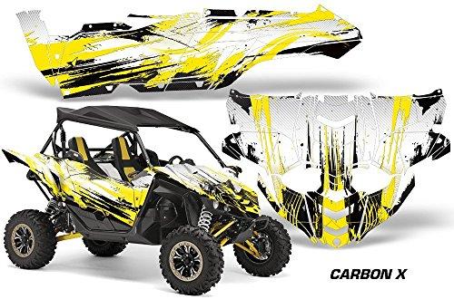 2015 Yamaha YXZ 1000R AMRRACING UTV Graphics Decal Kit - Carbon X - Yellow
