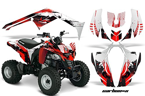 AMR Racing Graphics Can-Am DS-250 2006-2016 ATV Vinyl Wrap Kit - Carbon X Red