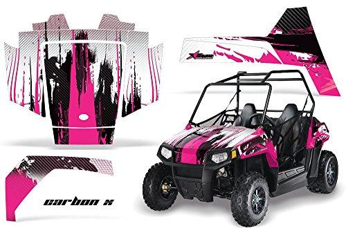AMRRACING Polaris RZR 170 Youth All Years Full Custom UTV Graphics Decal Kit - Carbon X Pink