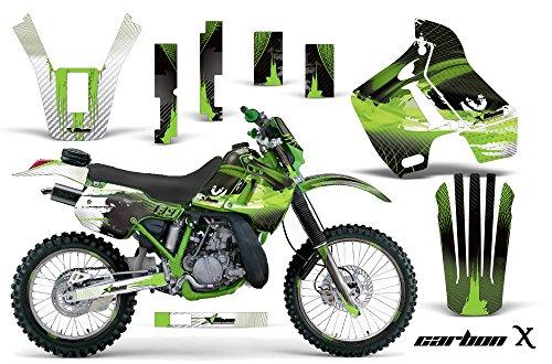 Kawasaki KDX200 1989-1994 MX Dirt Bike Graphic Kit Sticker Decals WITH Number Plates KDX 200 CARBON X GREEN
