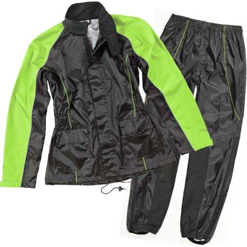 Joe Rocket Rs-2 Women's 2-piece Street Motorcycle Rain Suits - Black/hi-viz / Medium