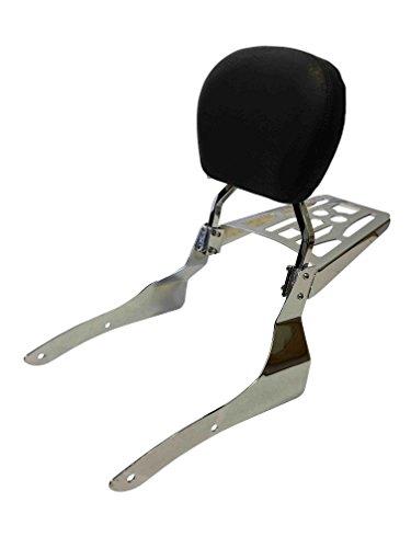 Contoured - Sissy Bar Backrest Luggage Rack for 2002-2009 Honda VTX1300C VTX1800C VTX1800F