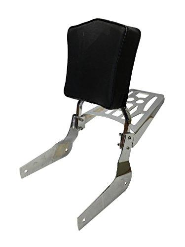 Sissy Bar Backrest Luggage Rack for 04 Honda Shadow Aero VT750