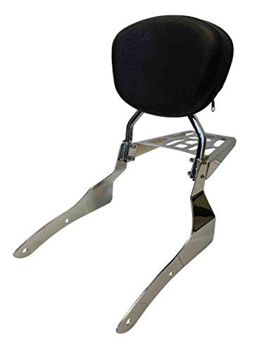 Sissy Bar Backrest Luggage Rack for 2002-2009 Honda VTX1300C VTX1800C VTX1800F - Contoured