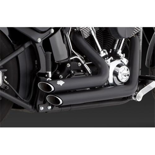 Vance Hines Shortshots Staggered Exhaust Black
