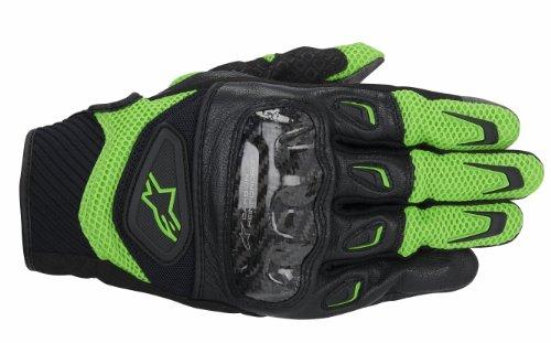 Alpinestars SMX-2 Air Carbon Mens Street Motorcycle Gloves - GreenBlack  Large