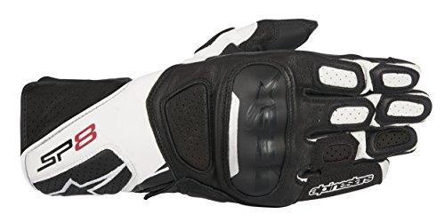 Alpinestars SP-8 V2 Mens Street Motorcycle Gloves - BlackWhite  Medium